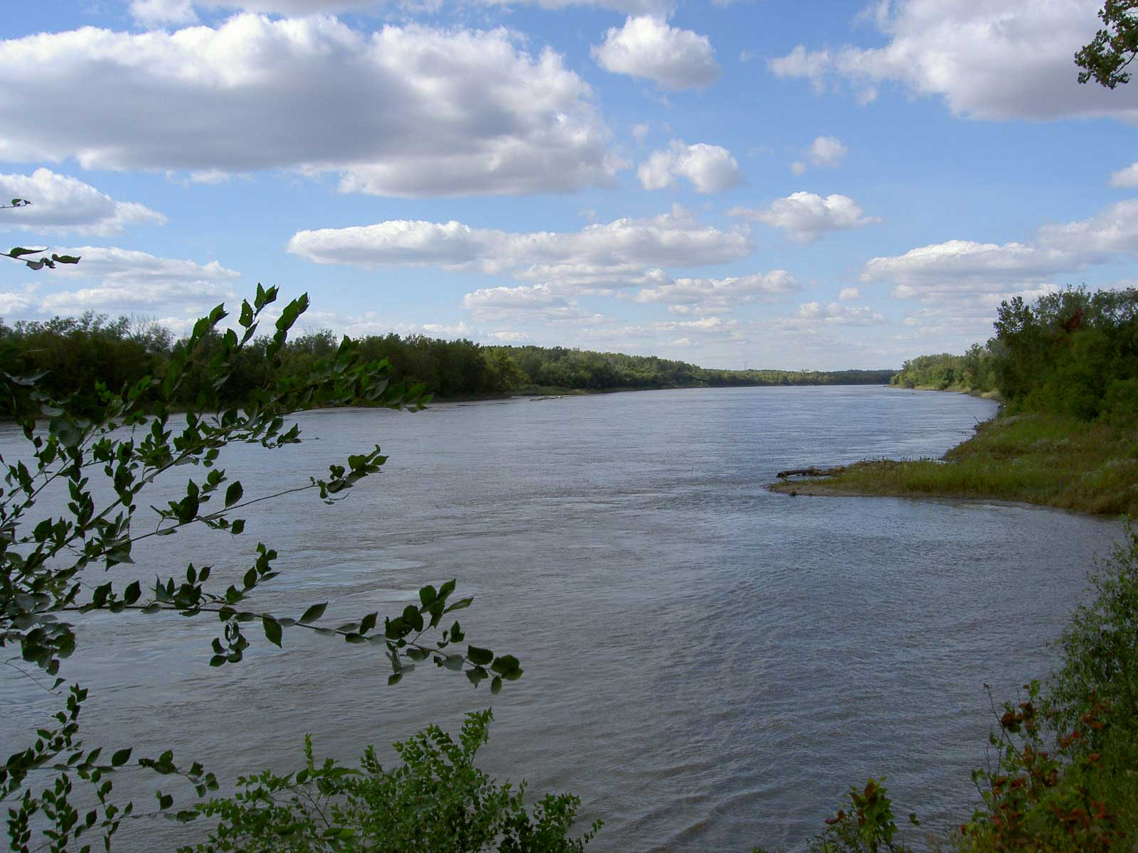 The Missouri River at St. Joseph