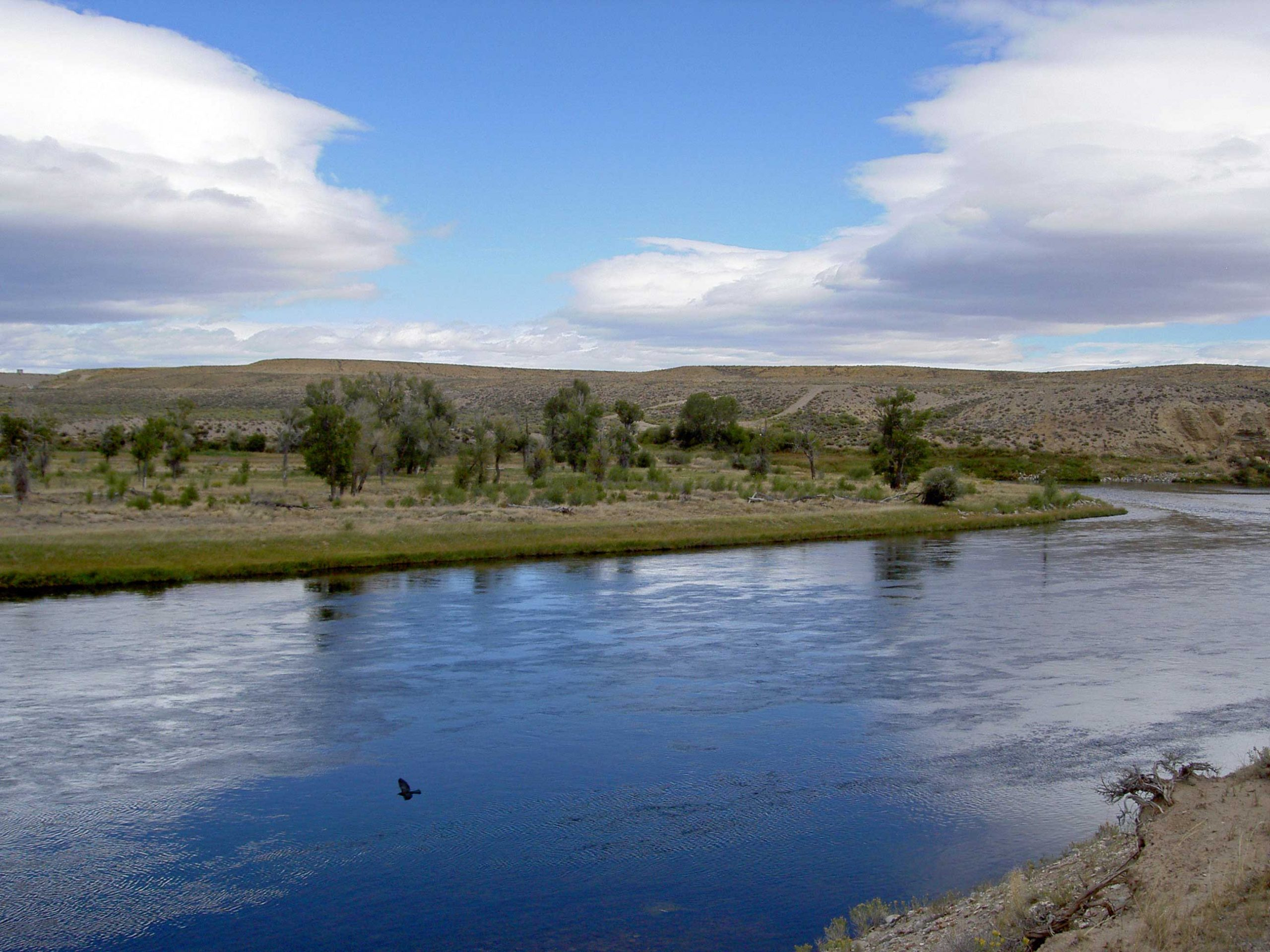 Crossing the Green River in Wyoming