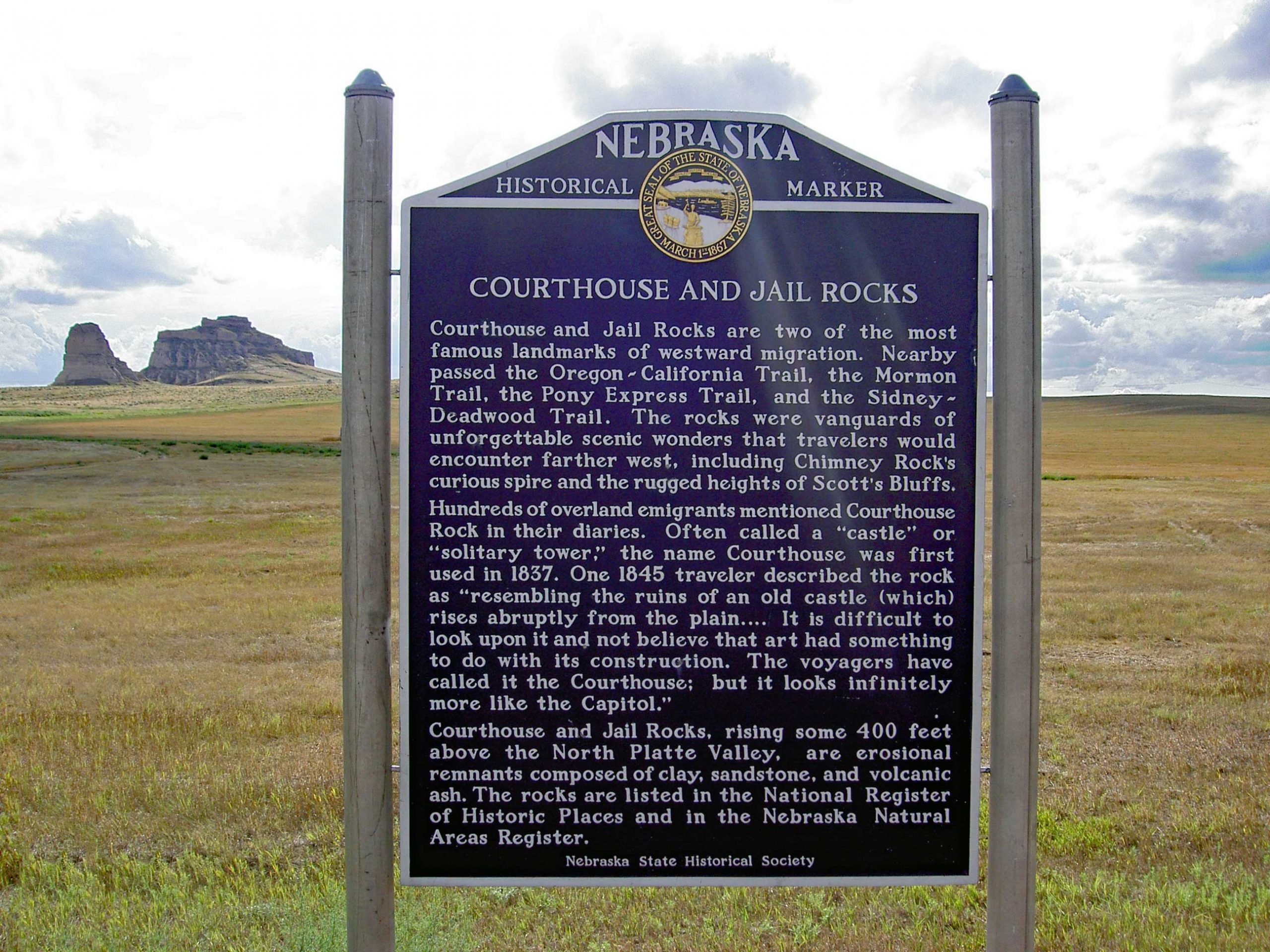 Jail and Courthouse Rocks