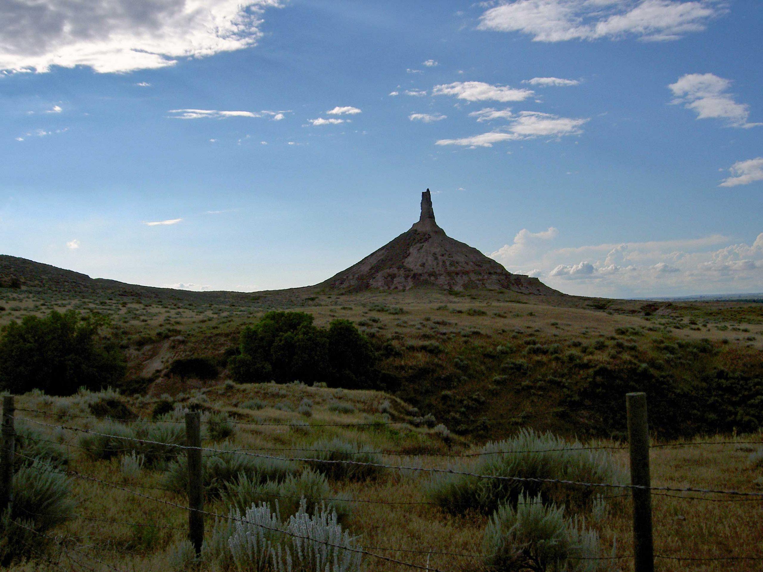 Chimney Rock in Nebraska