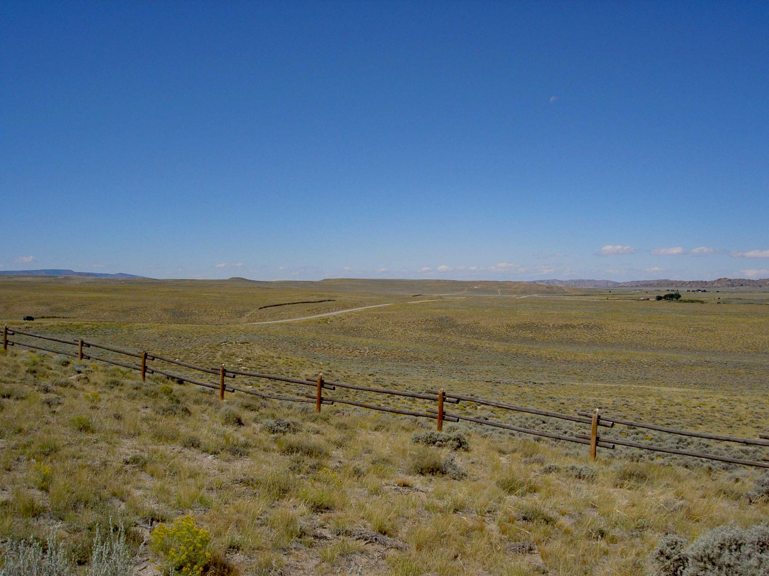 Looking west from Devil's Gate in Wyoming