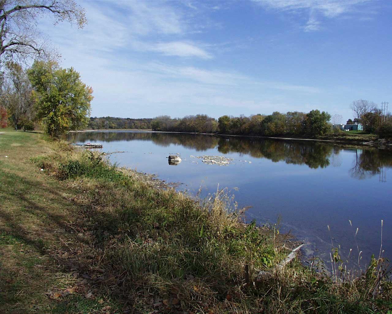 Des Moines River looking east at Keosauqua