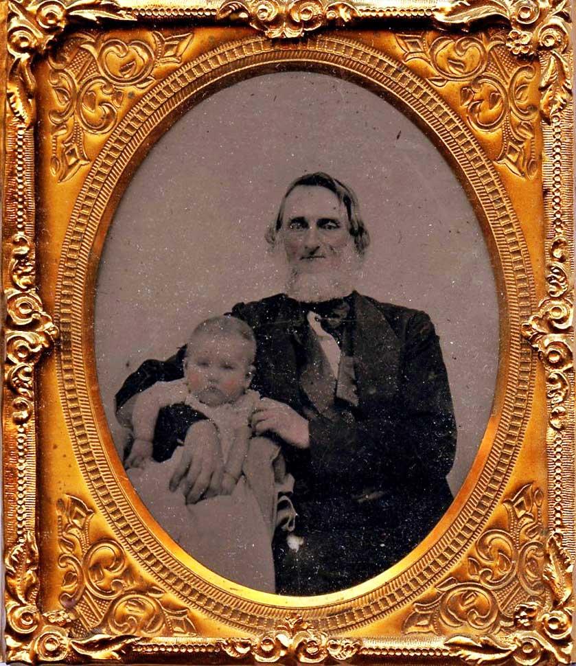 Dr. William Rinehart with Grandchild (1858)