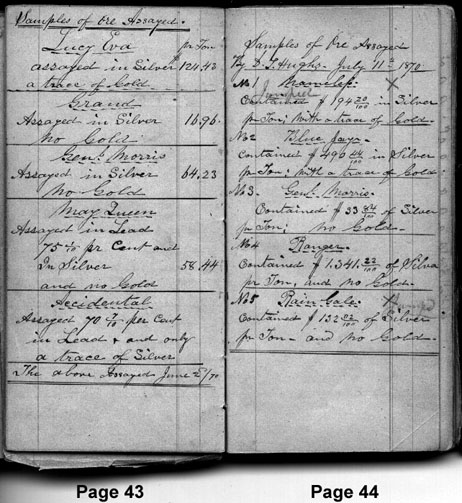 Sample page from the diary book