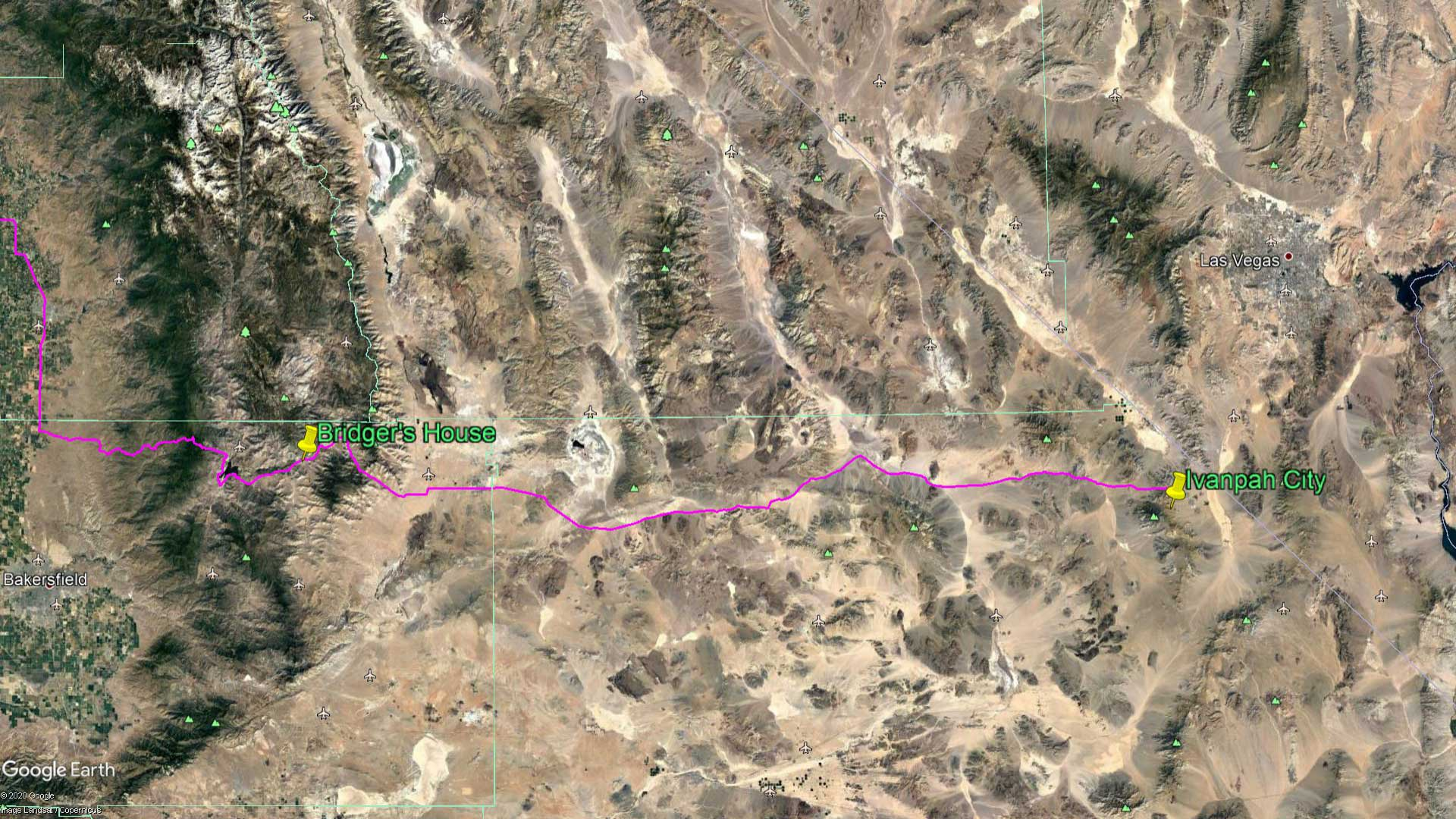 Diary Route to Ivanpah