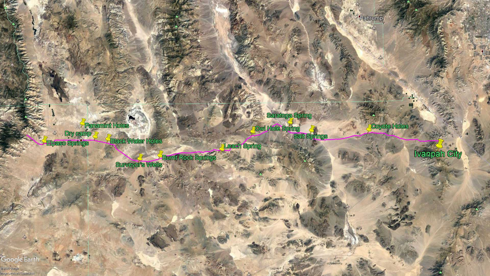 Diary Route to Walker Pass